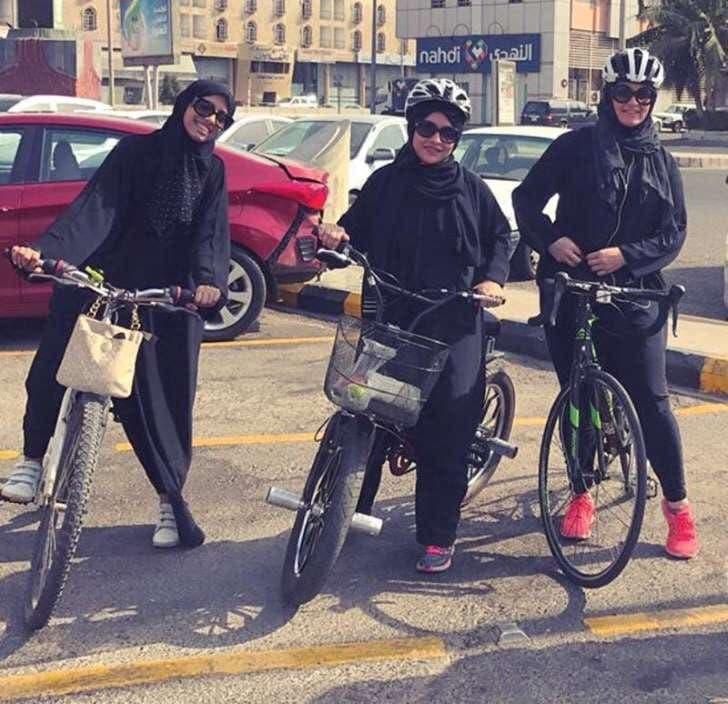 Women on bikes (Supplied)