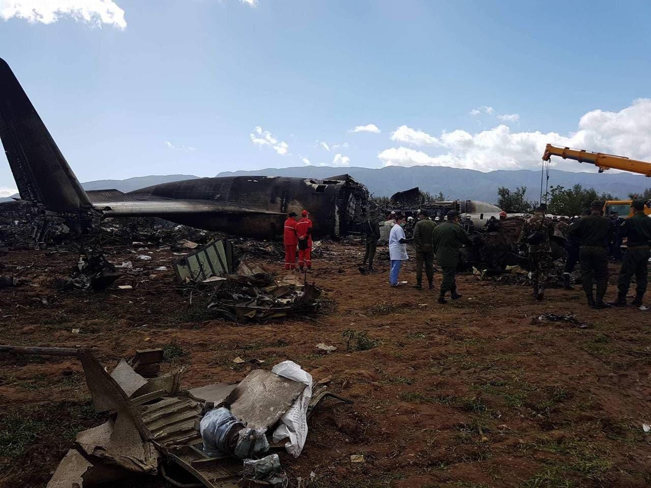 'No survivors' as military plane crashes near Algeria capital
