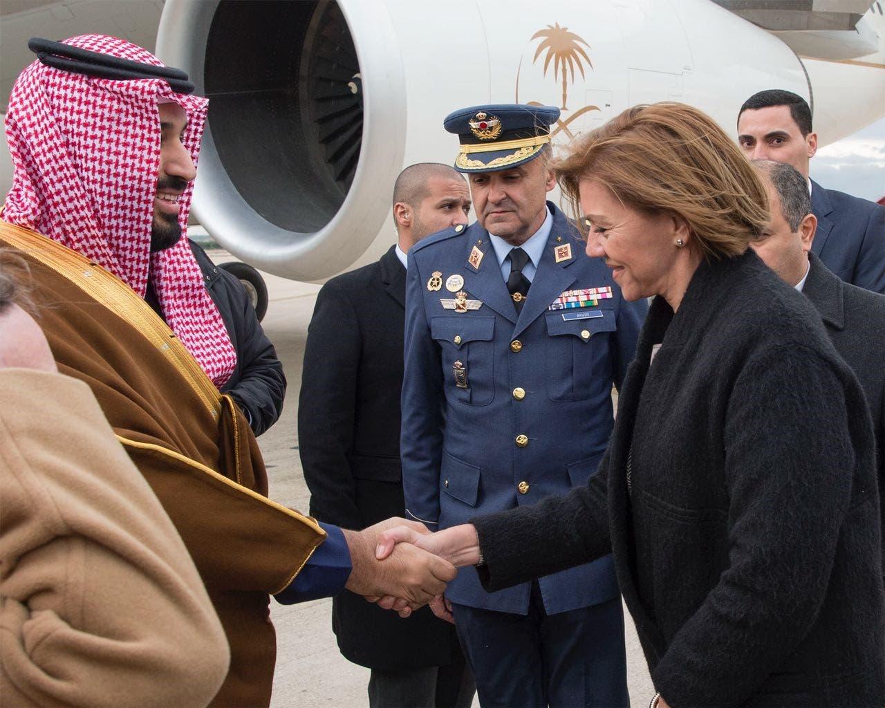 ولي العهد السعودي يصل اسبانيا بزيارة رسمية