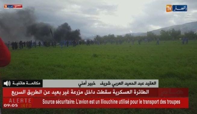 تحطم طائرة عسكرية على متنها 100 شخص بالجزائر