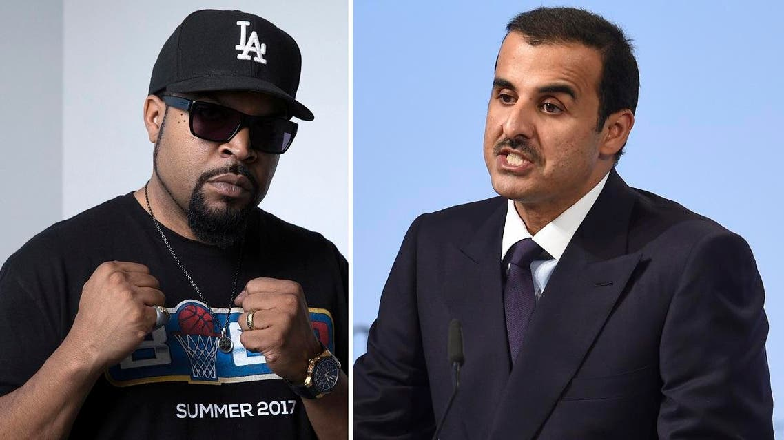 Ice Cube (L) took out a full New York Times ad with a direct message toward Qatar's Emir Tamim (R). (AP)