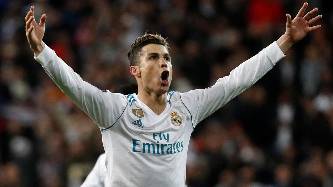 Real Madrid's Cristiano Ronaldo celebrates after the match against Juventus in the Champions League quarter final second leg  in Madrid. (Reuters)