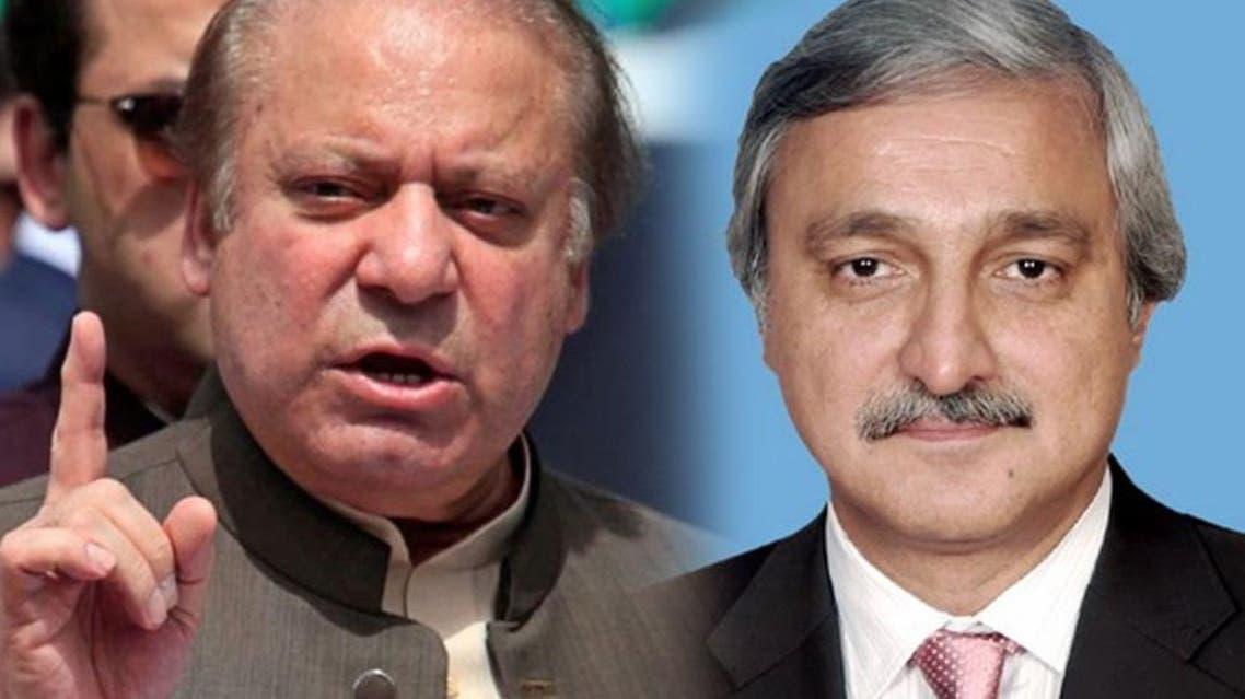 Nawaz sharif and jahangir tareen