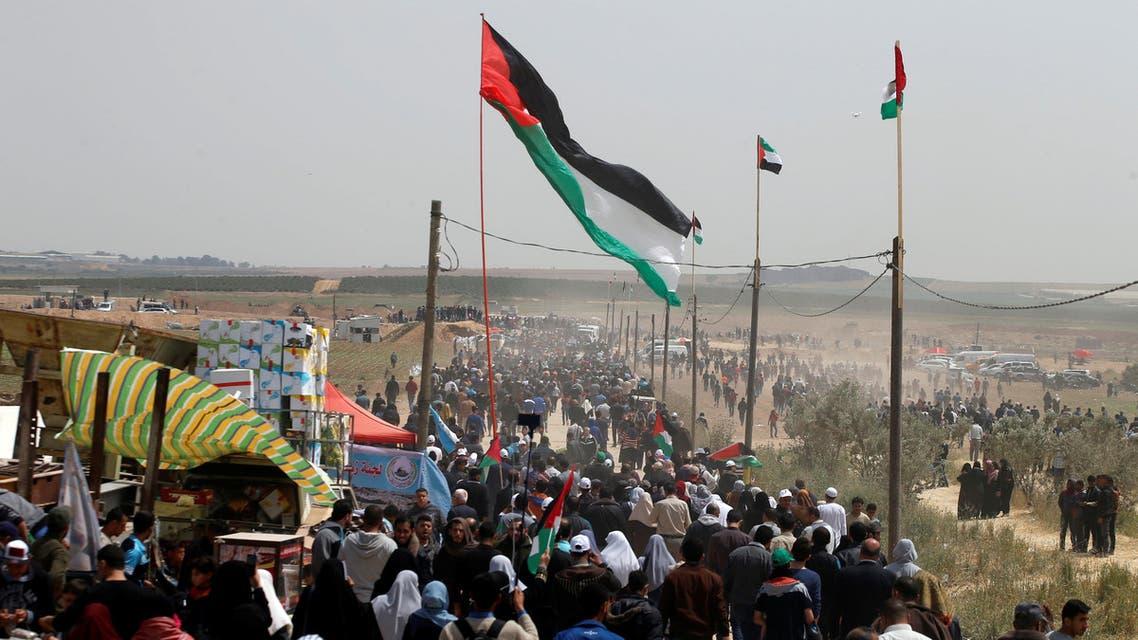 جمعة رفع العلم في غزة 13-4-2018