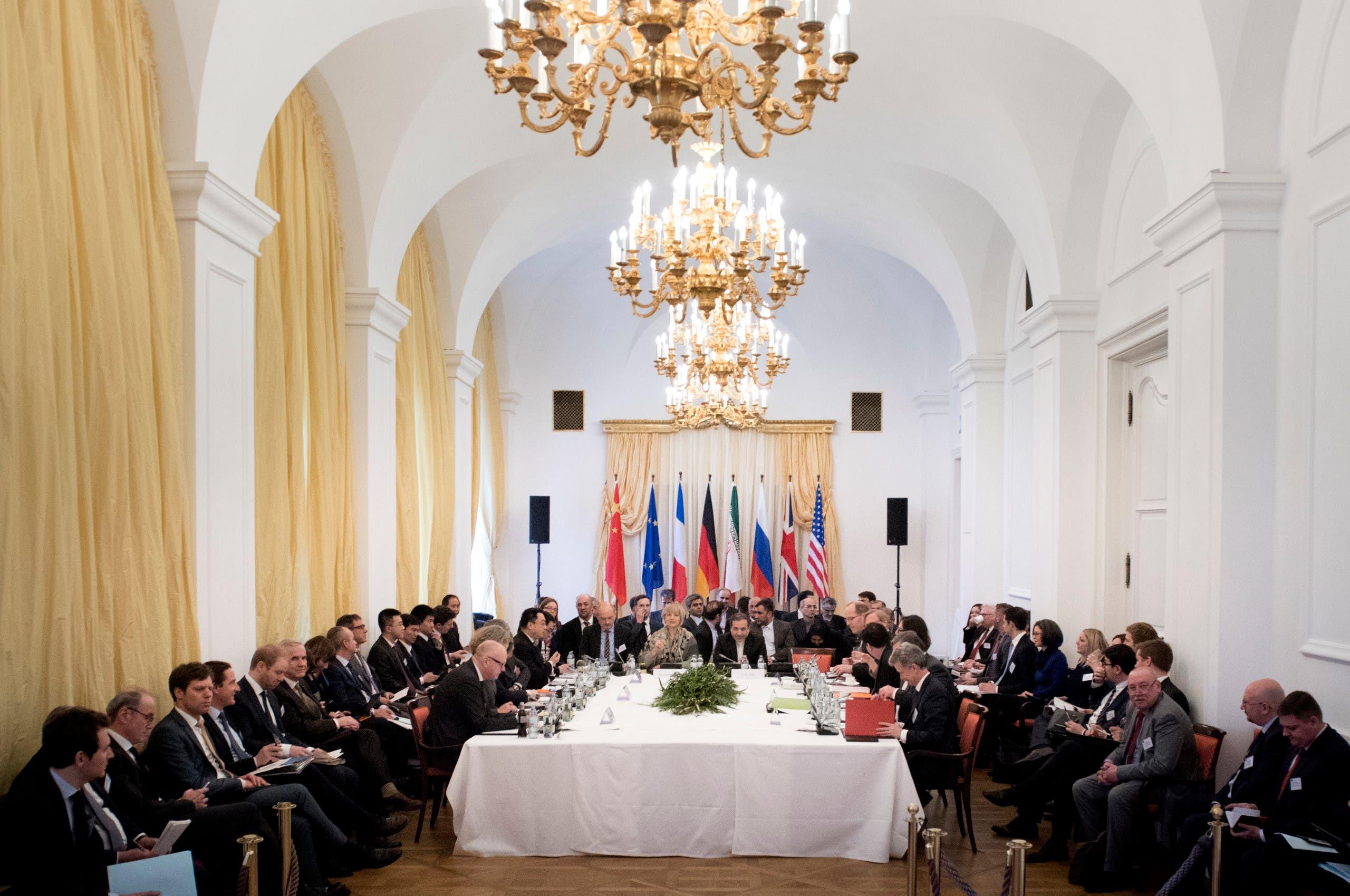من المفاوضات التي سبقت التوصل للاتفاق النووي في فيينا في مارس 2015