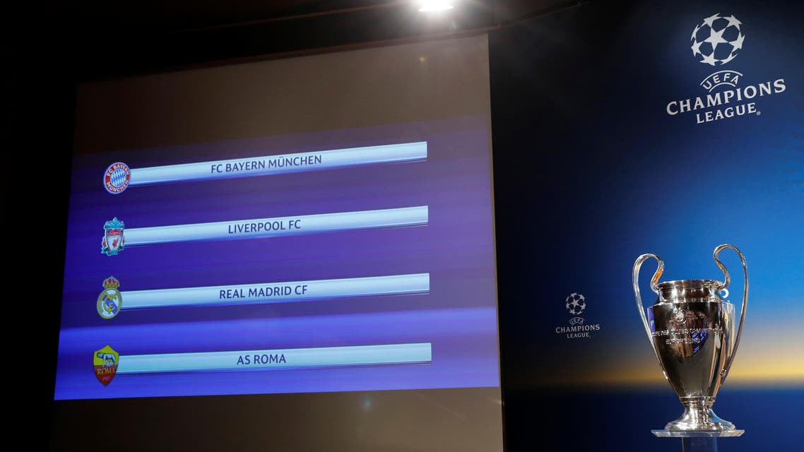 Soccer Football - Champions League Semi-Final Draw - Nyon, Switzerland - April 13, 2018 General view of the Champions League trophy after the draw REUTERS/Stefan Wermuth