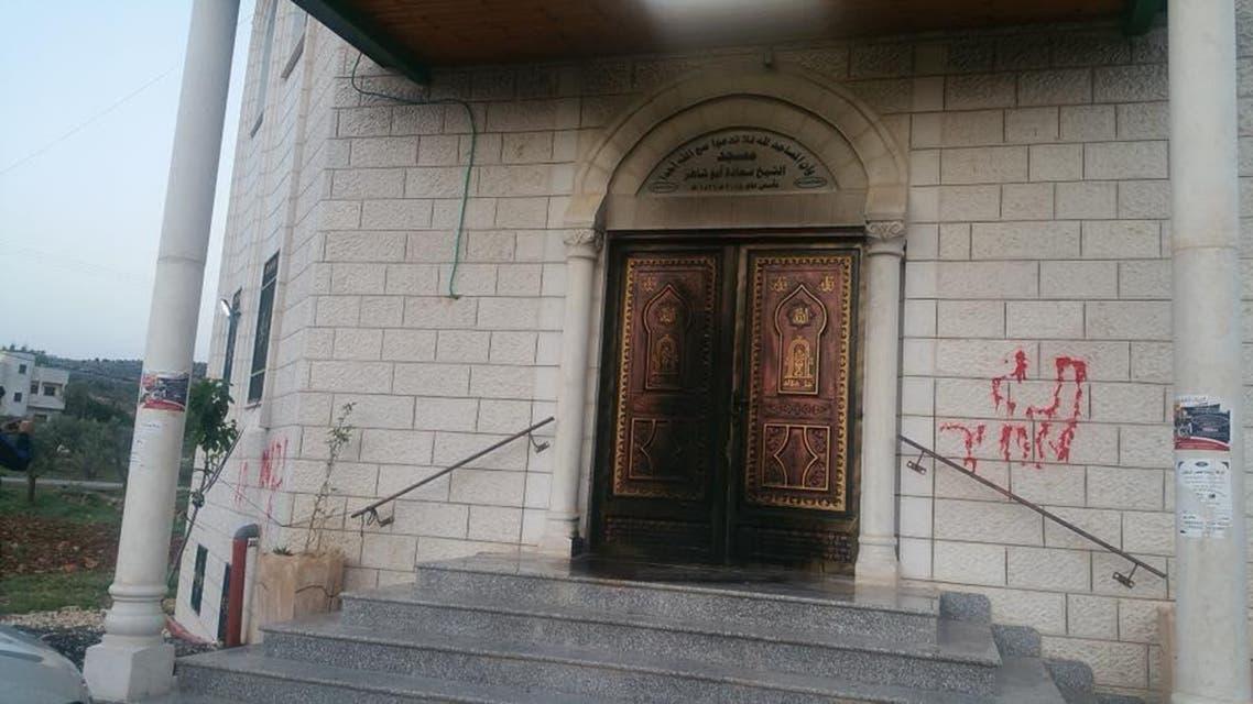 إحراق مسجد في نابلس