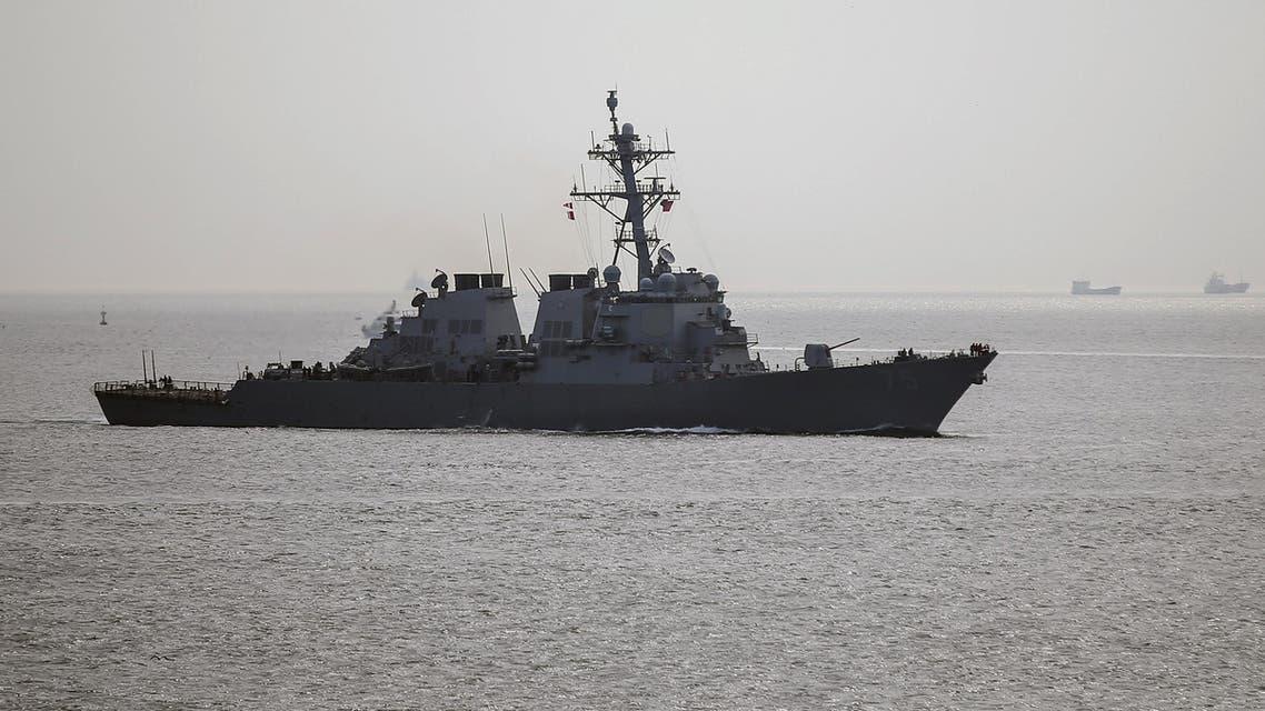 USS Donald Cook المدمرة الأميركية يو إس إس دونالد كوك في مياه المنطقة