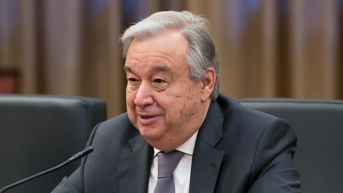 UN Secretary General Antonio Guterres during a meeting in Beijing on April 8, 2018. (AFP)