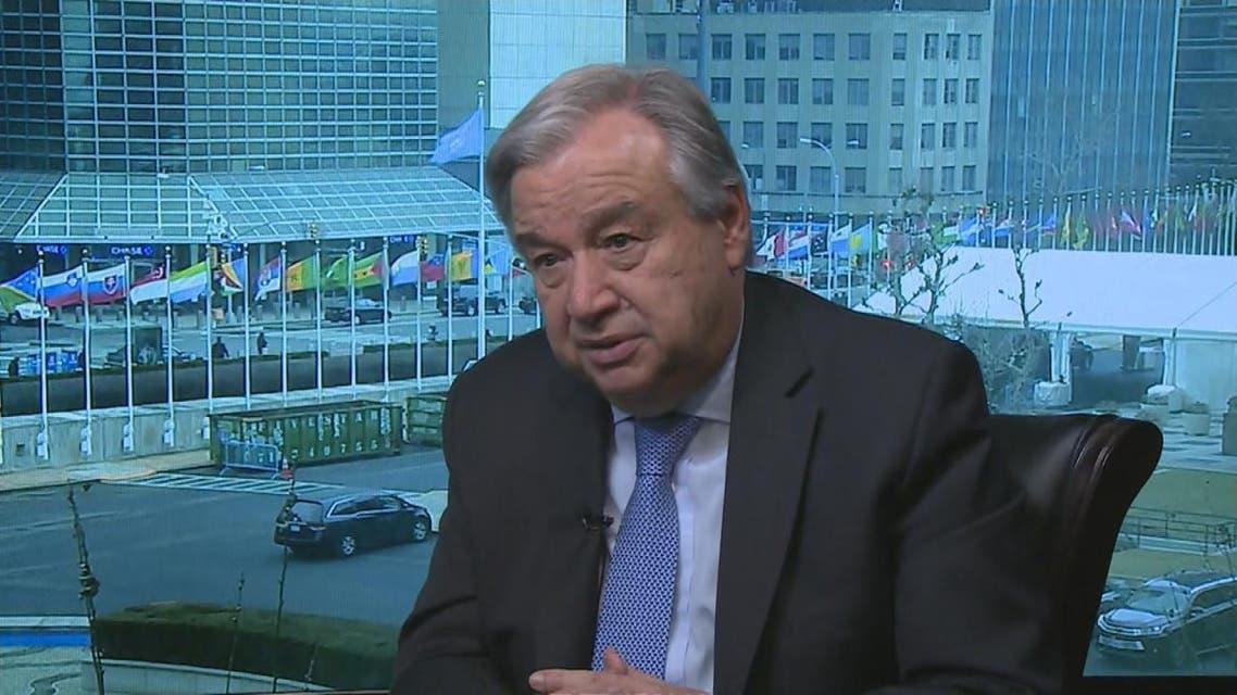 THUMBNAIL_ غوتيريس: نتفهم القلق السعودي ونرى ضرورة نزع أسلحة الحوثيين الثقيلة
