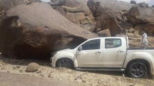 IN PICTURES: Giant rock crushes car during family outing in Saudi Arabia