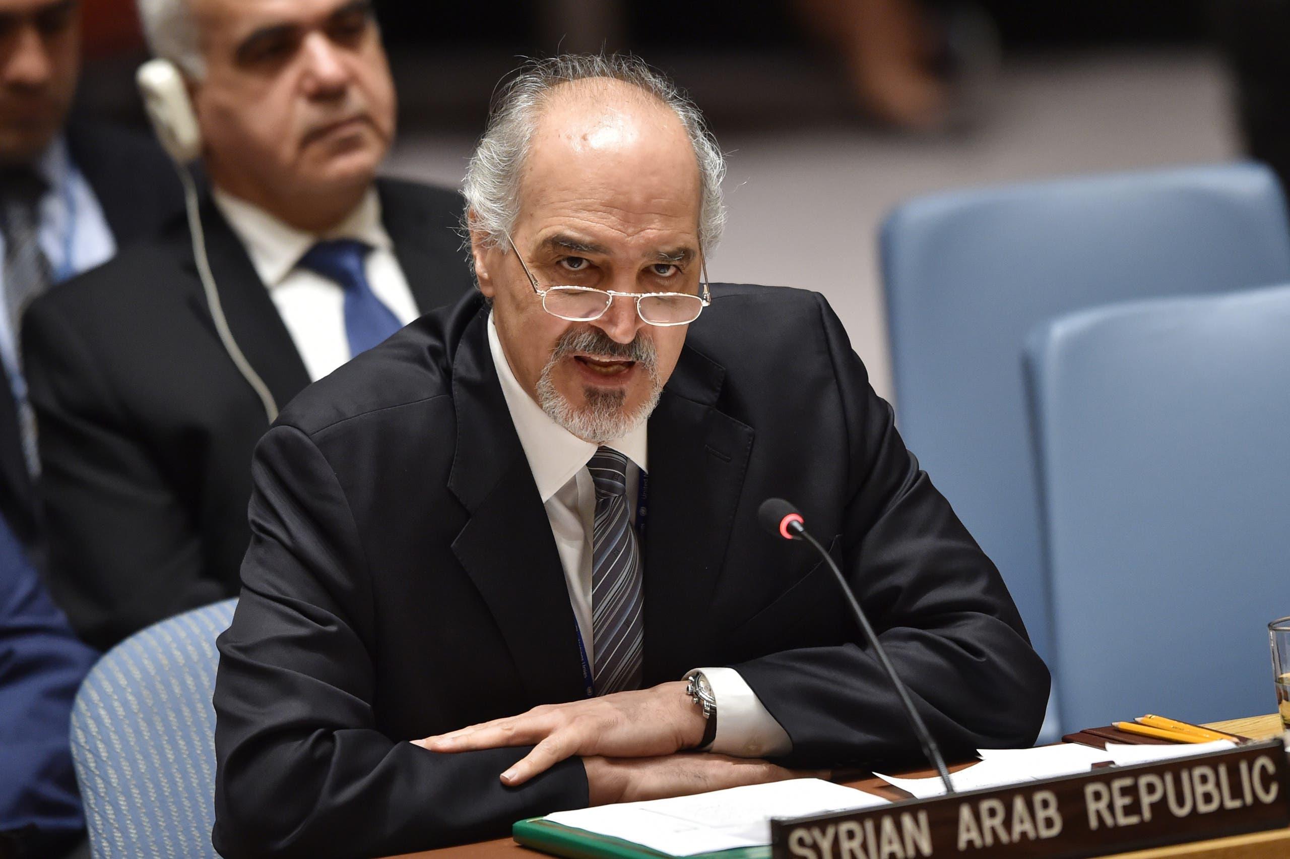بشار الجعفري مندوب النظام السوري في مجلس الأمن