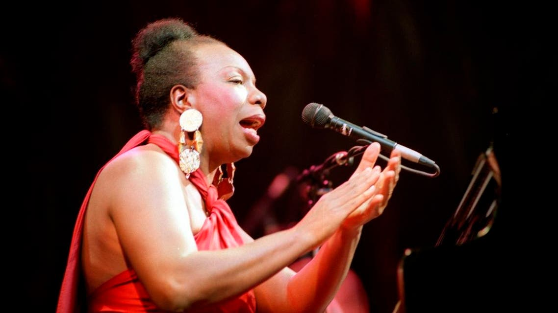 Picture dated 22 October 1991 of legendary jazz and blues singer Nina Simone in concert at the Olympia music hall in Paris. (AFP)