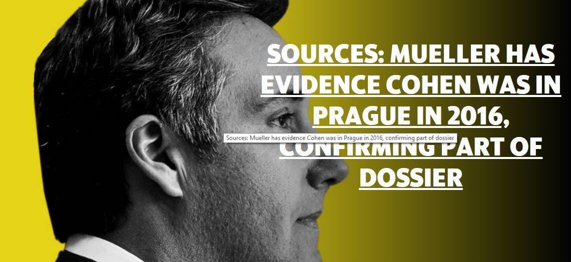 صورة من التقرير الذي يتهم كوهين برحلة براغ