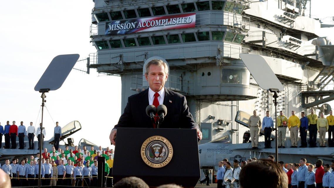 جورج بوش وخلفه العبارة في 2003