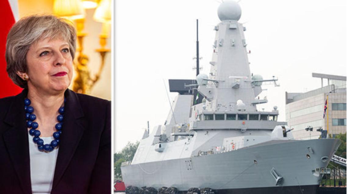 أصدرت تيريزا ماي الأوامر للمدمرة Duncan بالإبحار باتجاه قبرص (نقلاً عن صحيفة اكسبريس)