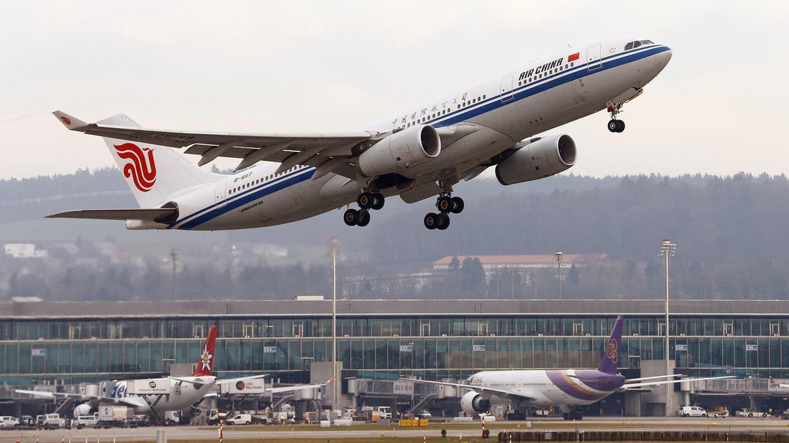 An Air China Airbus A330-200 aircraft takes off from Zurich Airport January 9, 2018. (Reuters)