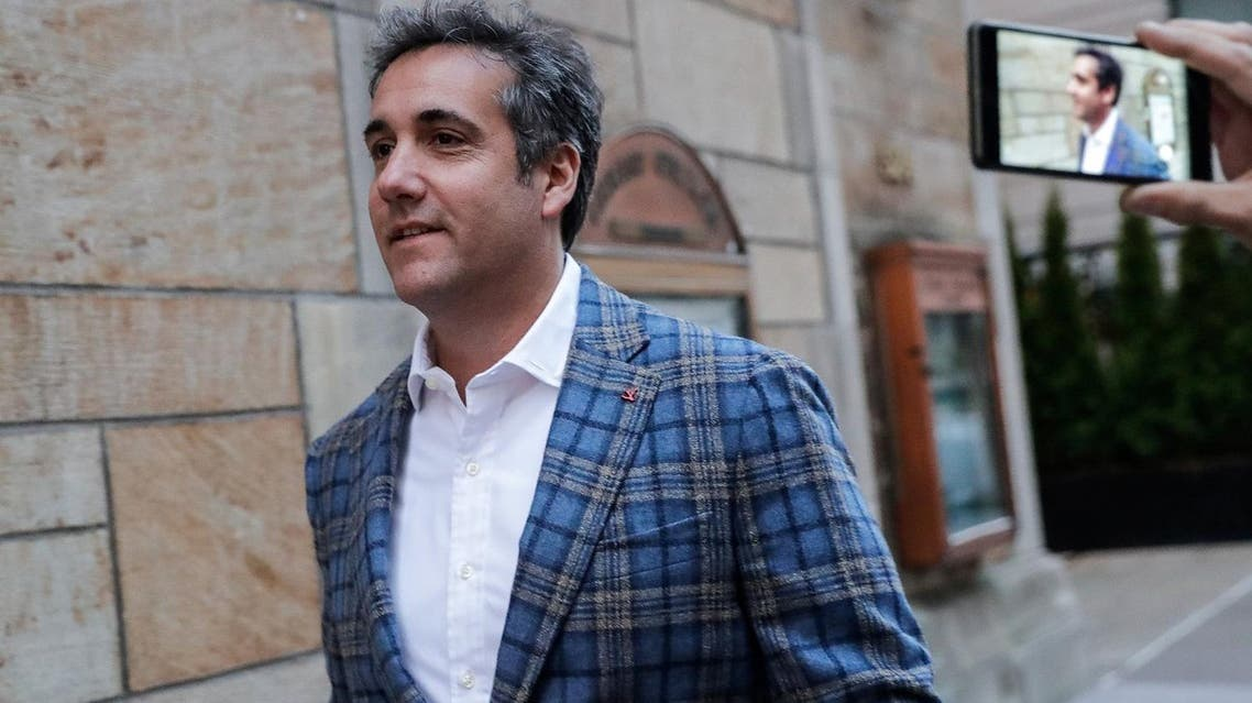 US President Donald Trump's personal lawyer Michael Cohen exits a hotel in New York City on April 13, 2018. (Reuters)