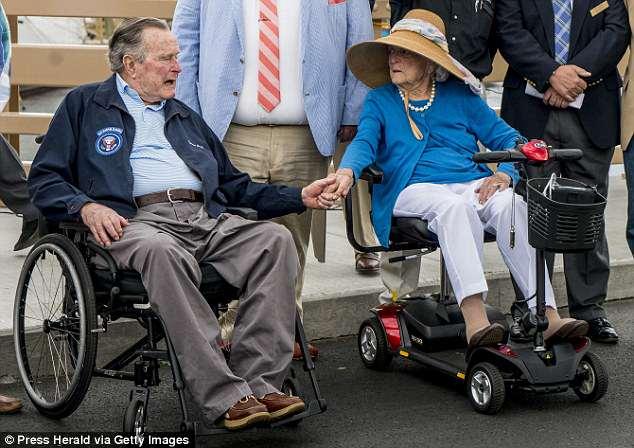 باربرا وزوجها جورج بوش الأب