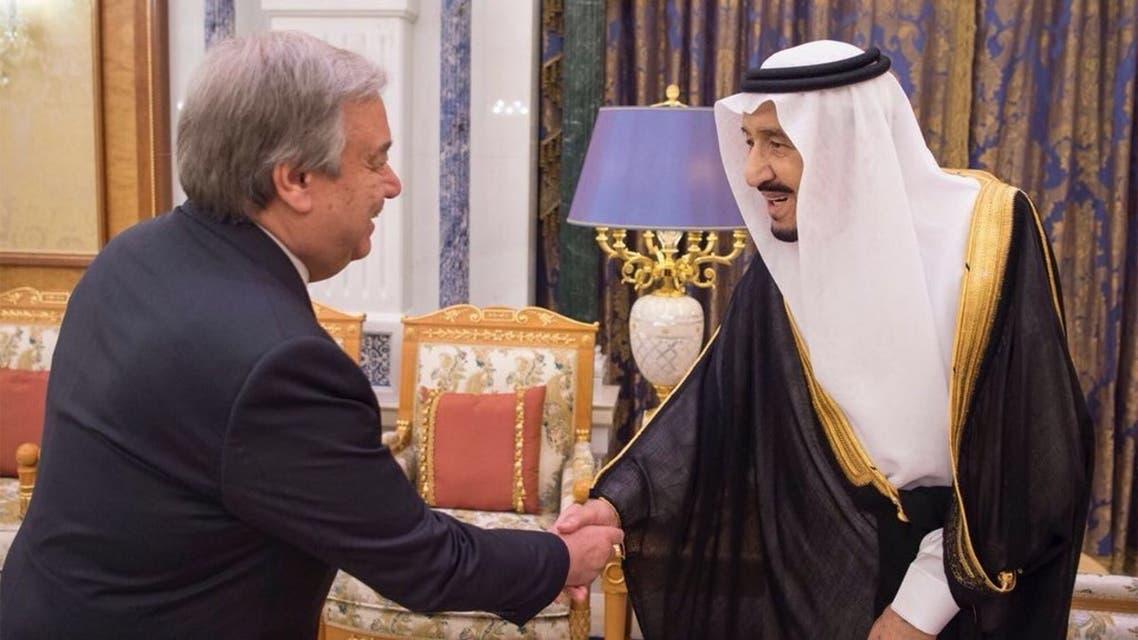 الملك سلمان يستقبل أمين الأمم المتحدة