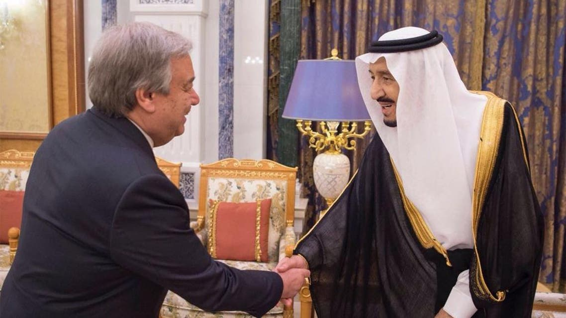 Saudi King meets with UN Secretary General in Riyadh