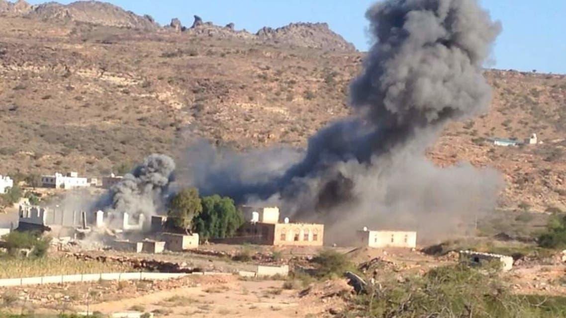 تفجير ميليشيا الحوثي منزل احد المدنيين اليمنيين-ارشيف