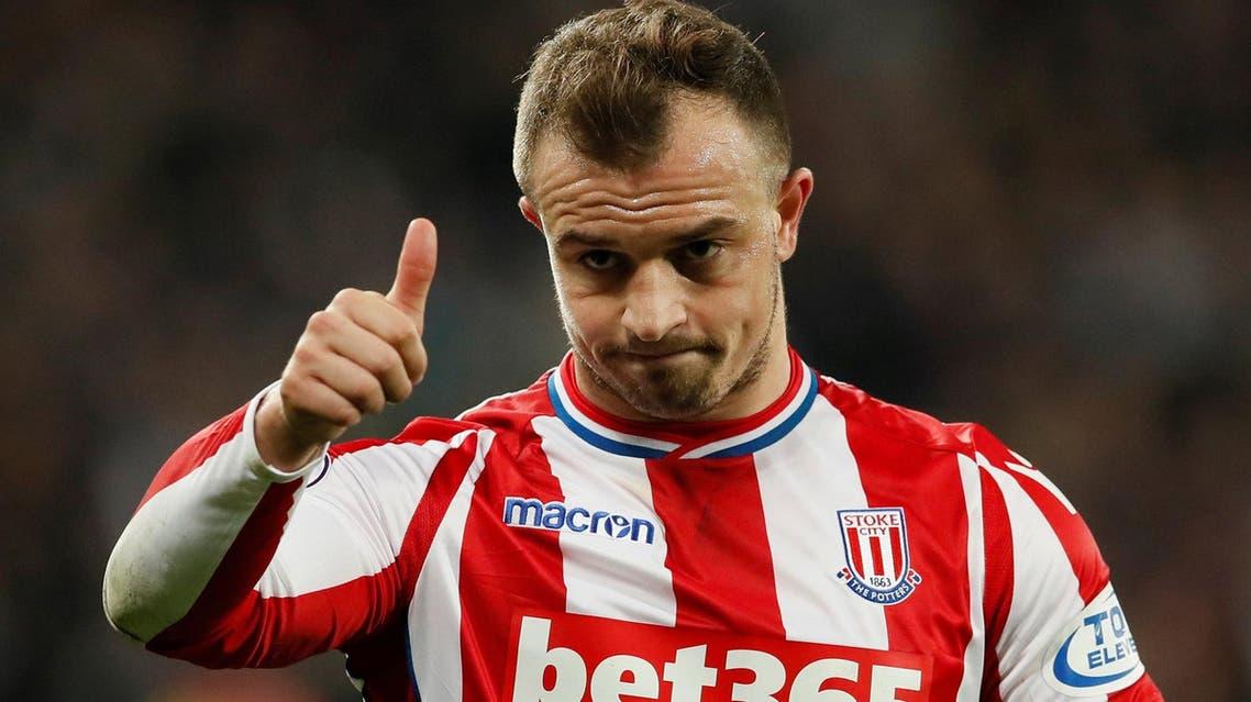 Shaqiri has enjoyed his most productive season as a Stoke player. (Reuters)