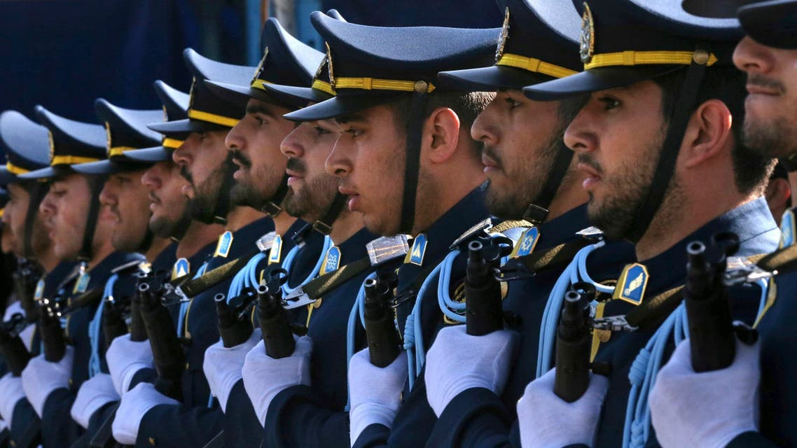 Iranian army cadets march during a parade marking National Army near Tehran on April 18, 2017. (AP)