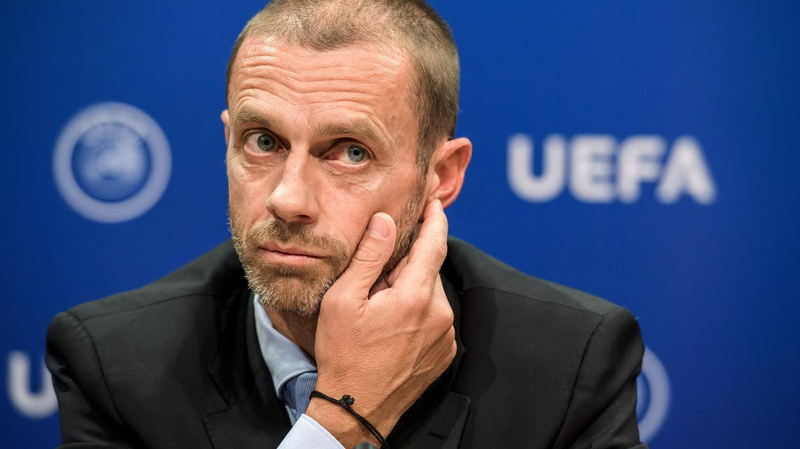 UEFA president Aleksander Ceferin attends a press conference on September 20, 2017 at the UEFA headqurters in Nyon. Ceferin has called for greater support from Europe's political leaders to help introduce measures to regulate the transfer market on the continent. Fabrice COFFRINI / AFP