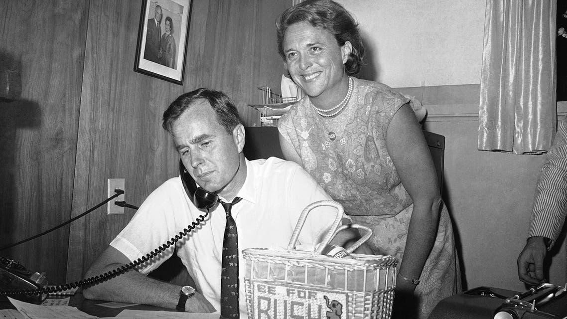 George Bush and Barbara seen in this June 6, 1964 file photo. (AP)