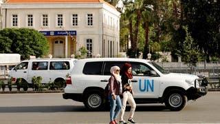 سيارة الخبراء الأمميين في دمشق