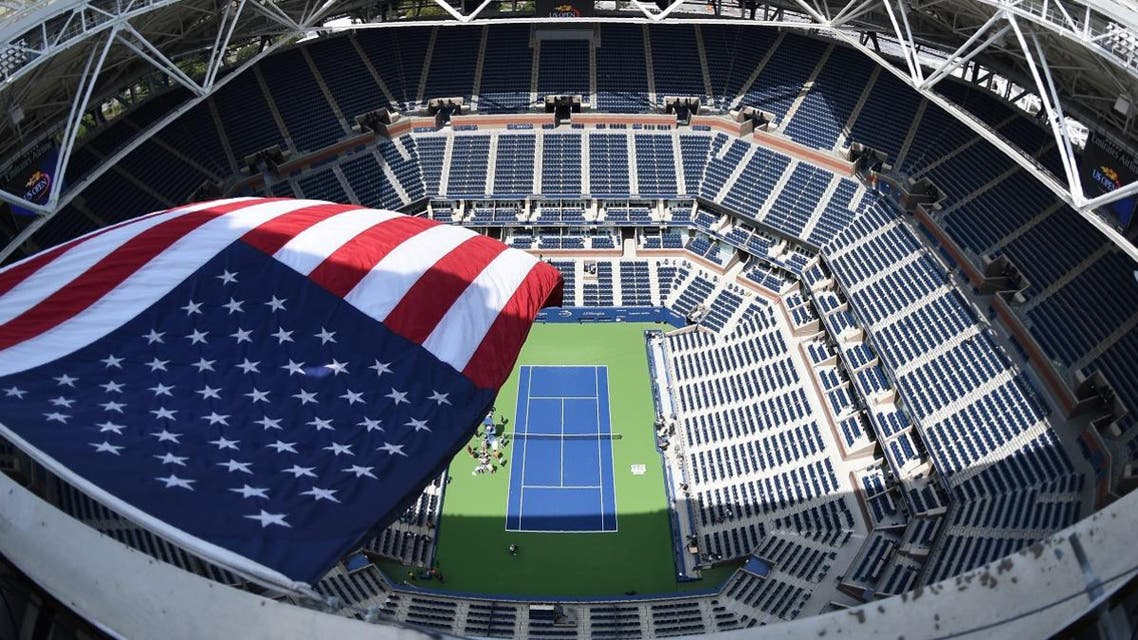 The US flag flies over Arthur Ashe Stadium August 27, 2017 at the National Tennis Center in New York. (AFP)