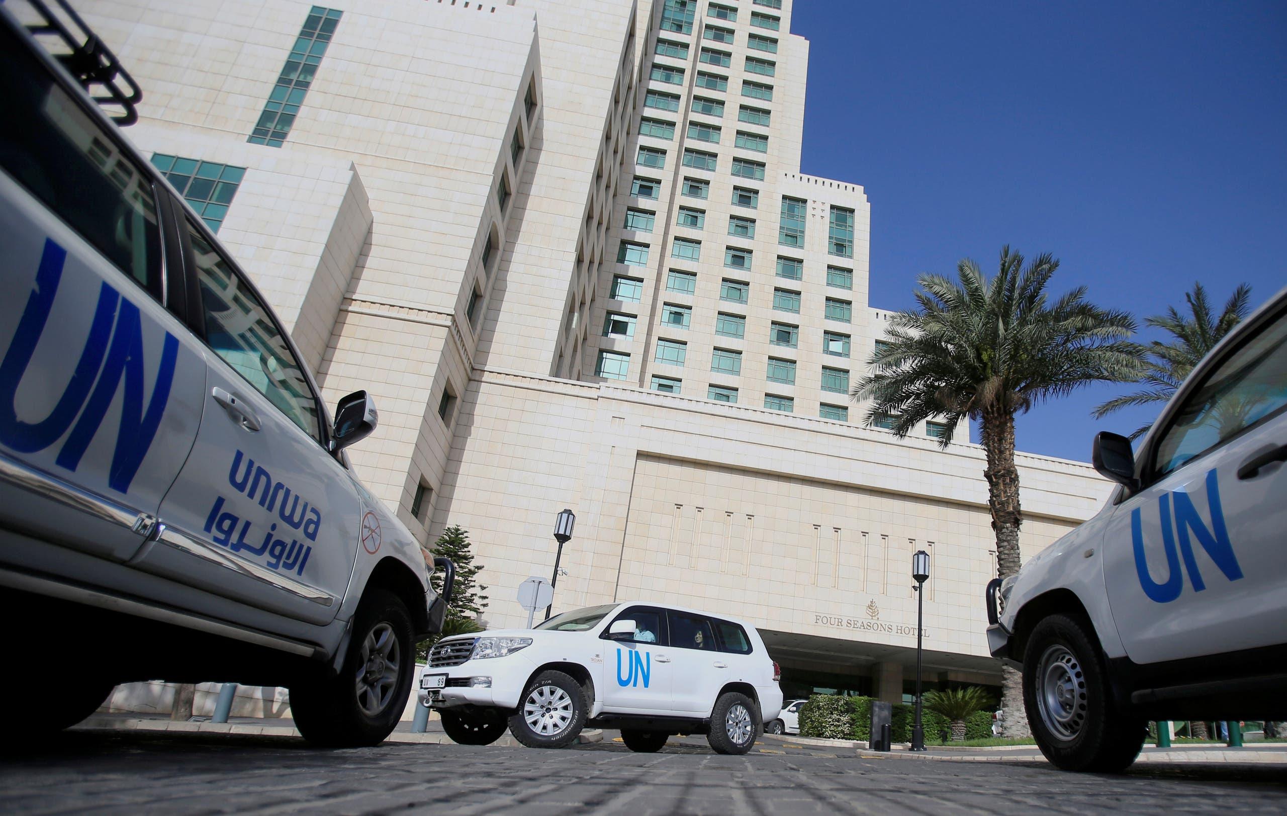 حافلات الأمم المتحدة أقلت خبراء منظمة حظر الأسلحة الكيمياوية في دمشق قبل سنوات
