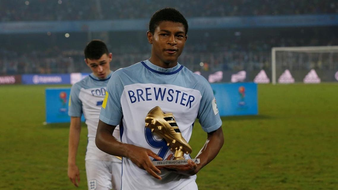 England's Rhian Brewster wins the Golden Boot for the 2017 FIFA U-17 World Cup. (Reuters)