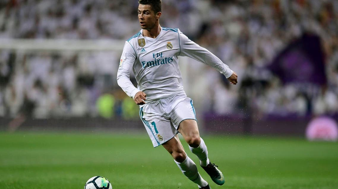 Real Madrid's forward Cristiano Ronaldo gestures during the Spanish league football match against Athletic Club Bilbao at the Santiago Bernabeu stadium in Madrid on April 18, 2018.  (AFP)