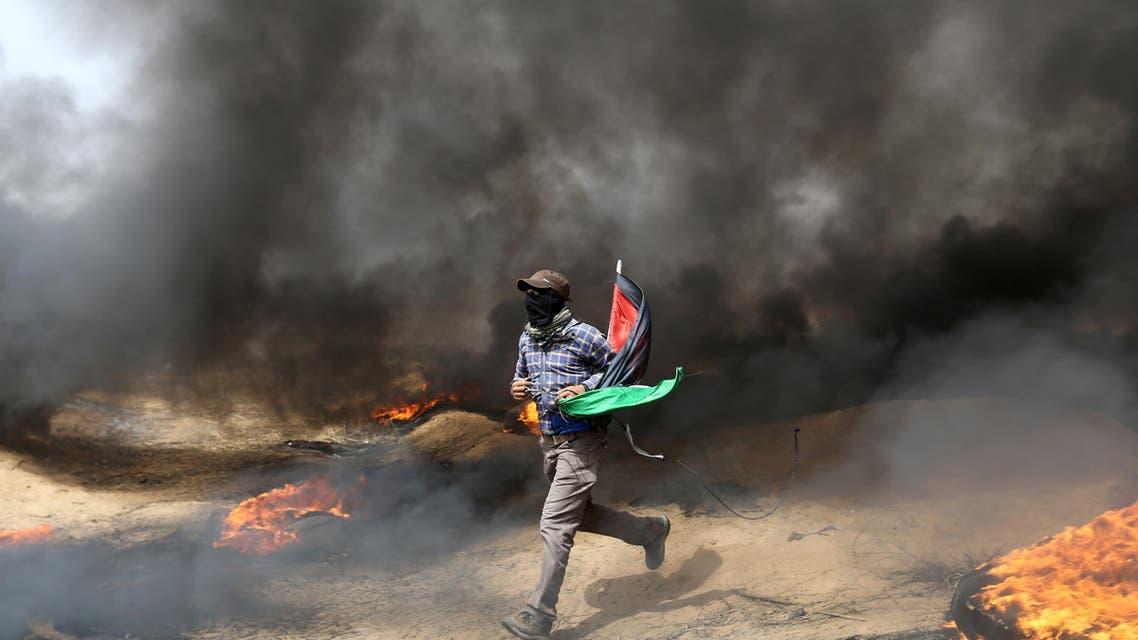 gaza protest april 20 (Reuters)