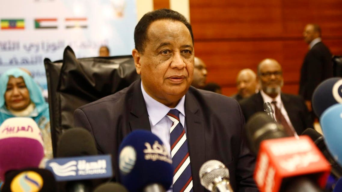 Sudanese Foreign Minister Ibrahim Ghandour attends the tripartite talks over an Ethiopian controversial dam being built on the Blue Nile, in Khartoum, on april 5, 2018. (AFP)