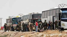 شامی باغیوں کا دمشق کے شمال مشرق میں واقع محاصرہ زدہ علاقے سے انخلا
