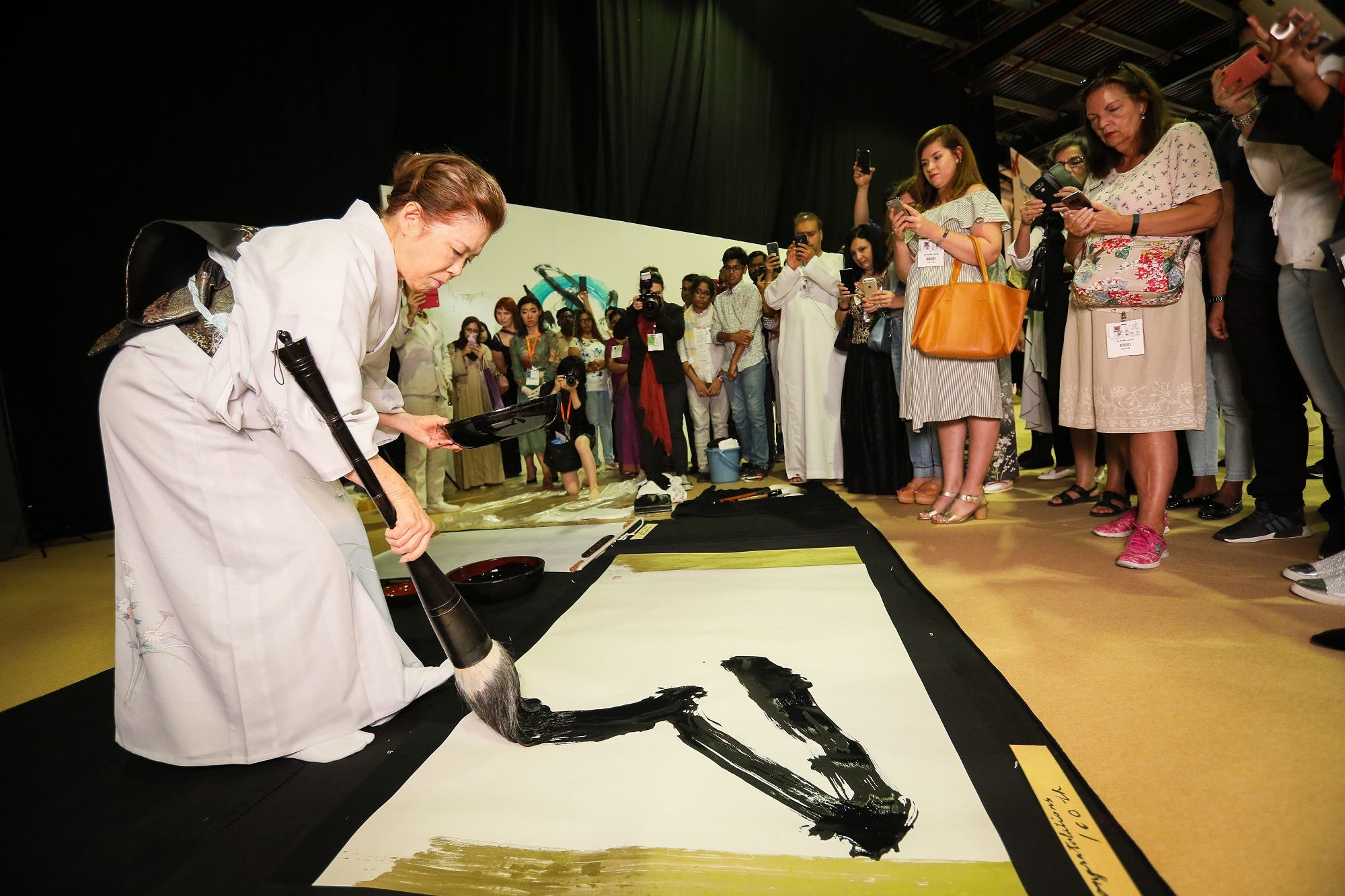 One of the most prevalent countries at World Art Dubai is Japan, with a pavilion of Far East galleries and artists displaying traditional calligraphy and ink painting. (Supplied)