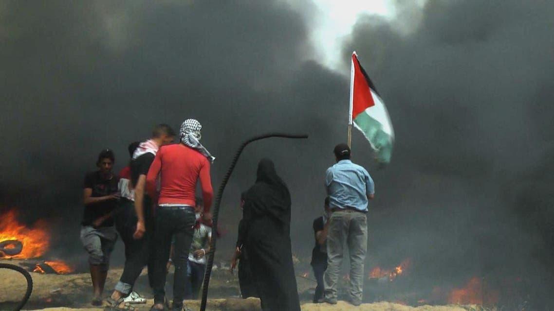 THUMBNAIL_ صور من التظاهرات على حدود غزة