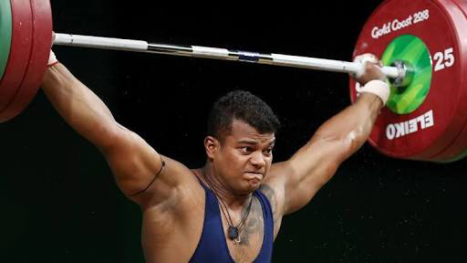 Rahul Venkat Ragala won a gold in weightlifting at the 2018 Commonwealth Games. (Supplied)