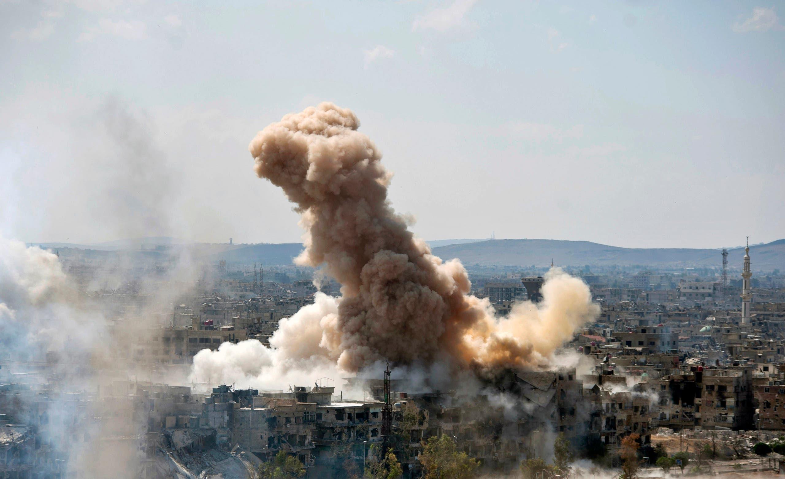 Syria ISIS ghouta douma. (AP)