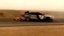 WATCH: Two accidents in Riyadh involving careless drifter, gas cylinders and a hot pursuit