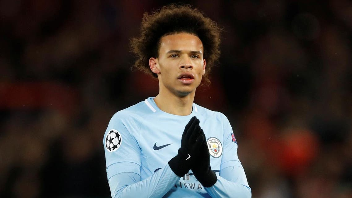Leroy Sane applauds their fans after the match Action. (Reuters)