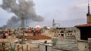من القصف على مخيم اليرموك