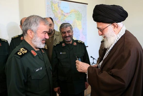 On April 18 while marking Army's Day, Rouhani commended the army for not interfering in political affairs. (Al Arabiya)
