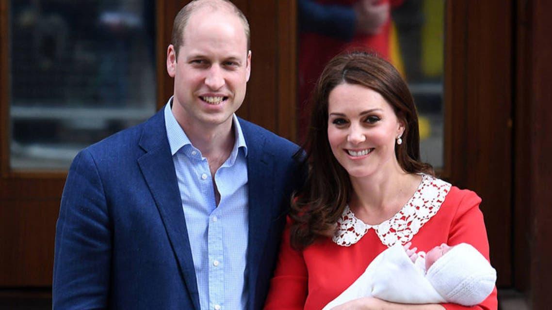 كايت ميدلتون والأمير ويليام والطفل الجديد