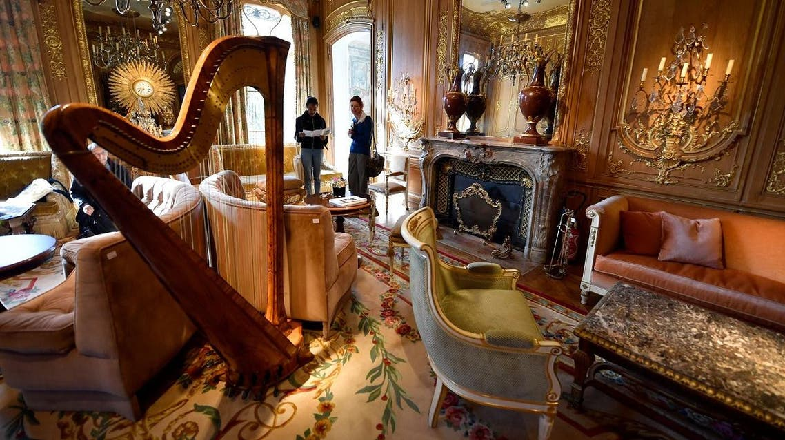 """This file photo taken on April 11, 2018 shows furnitures from """"Le Salon Proust"""" of the Ritz Paris, part of the 10,000 Ritz objects set to be auctioned by the Artcurial auction house. (AFP)"""