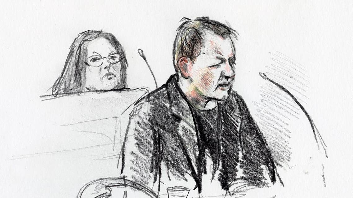 Peter Madsen (R) during his trial at the courthouse in Copenhagen, where his verdict was spoken in Copenhagen. (AFP)