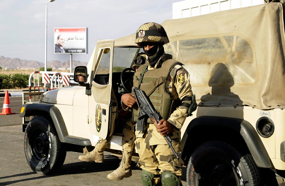 Egyptian soldiers guard the entrance to the Sharm el-Sheikh International Airport in south Sinai, Egypt. (File photo: AP)